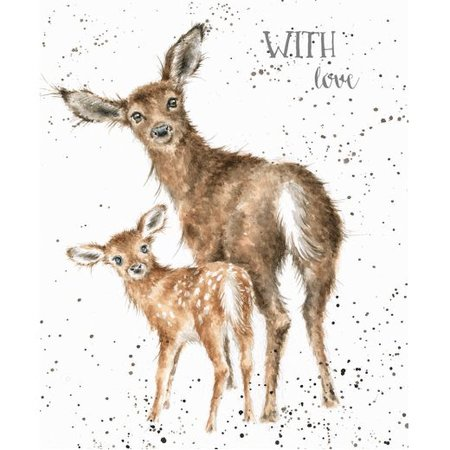 wrendale designs card doe and fawn oaklands country supplies